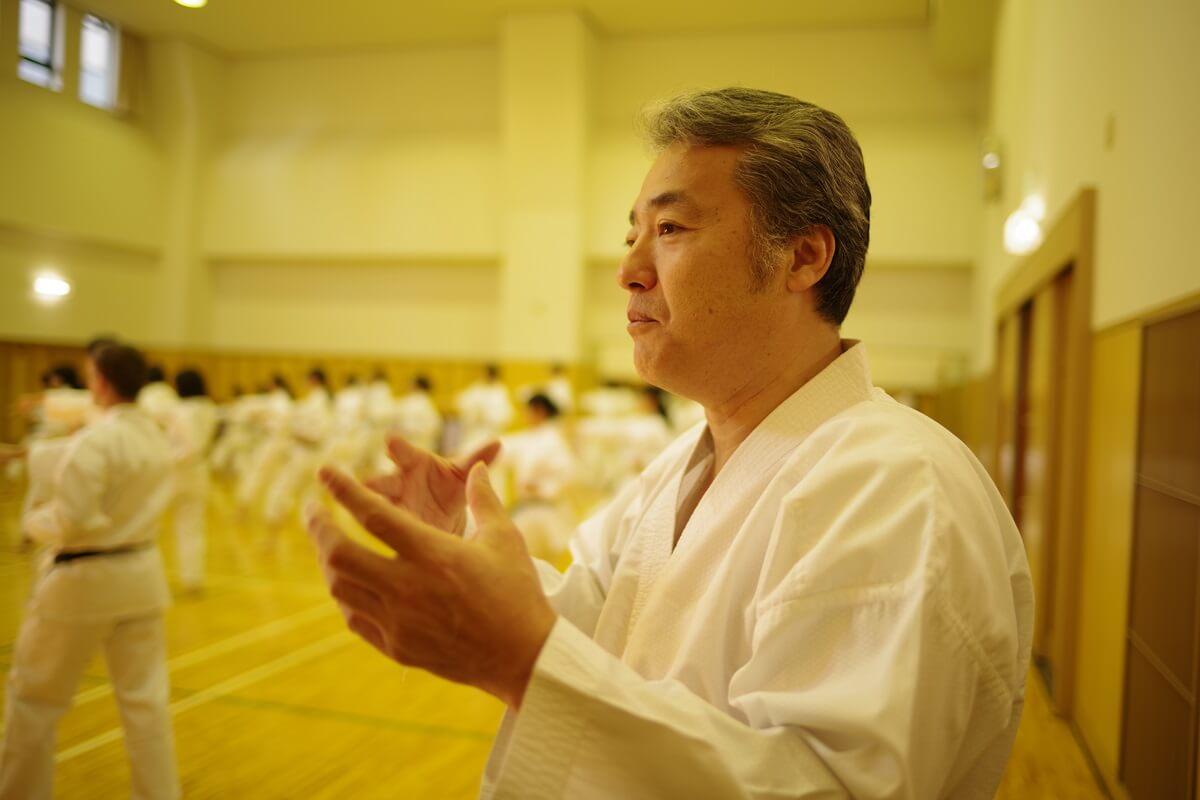 「東京空手倶楽部」での指導について語る瀧川英治先生
